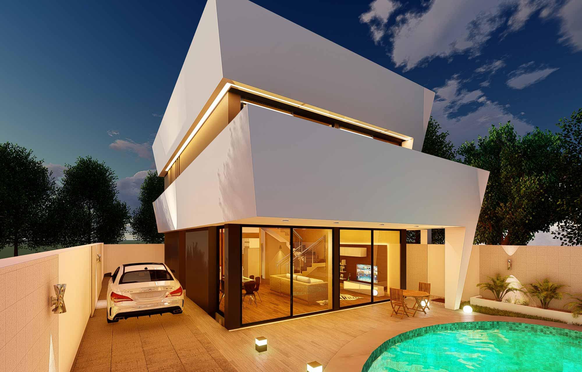 proyecto arquitectura vivienda unifamiliar malaga